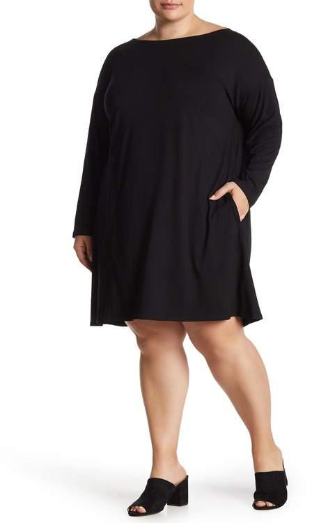 Long Dolman Sleeve Midi Dress (Plus Size)