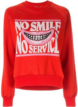 "Stella McCartney No Smile No Service"" sweater"