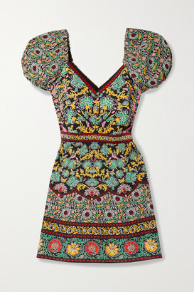 Alice + Olivia Dana Floral-print Crepe Mini Dress