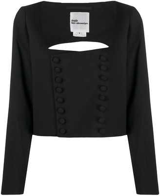 Comme des Garcons Double-Breasted Bodice Style Wool Top