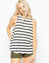 Asos Swing Tank In Stripe