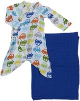 I Play Organic Gown & Blanket Gift Set (Baby) - Car - 0-3 Months
