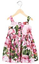 Dolce & Gabbana Girls' Floral Print Gathered Dress