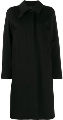 MACKINTOSH DUNKELD Black Storm System Wool 3/4 Coat | LM-1018F