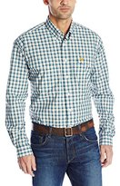 Cinch Men's Long Sleeve Plaid Double Pocket