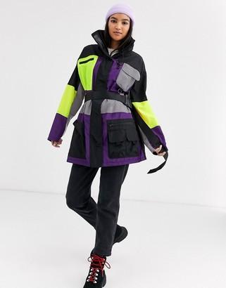 Asos Design DESIGN extreme utility anorak jacket-Multi