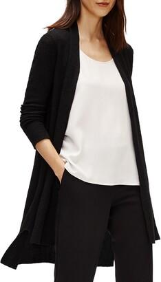 Eileen Fisher Organic Linen Blend Long Cardigan