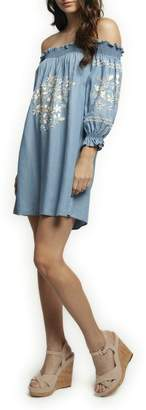Dex Embroidered Tencel Dress