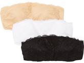 Cosabella Trenta Set Of Three Stretch-lace Bandeau Bras - Black
