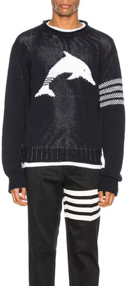 Thom Browne Dolphin Pullover in Navy | FWRD