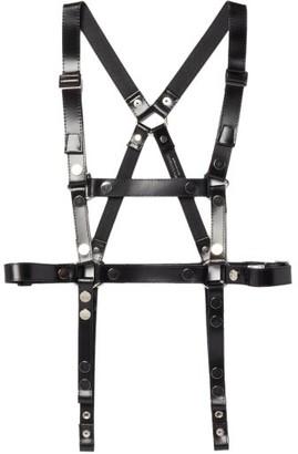 Junya Watanabe Studded Leather Harness Belt - Black