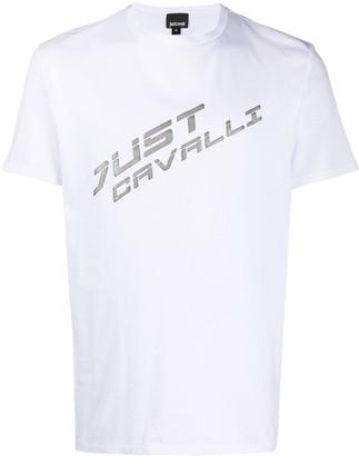 Just Cavalli metallic logo T-shirt