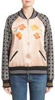 Rodarte Women's La Poppy Embroidered Bomber Jacket
