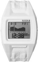Nixon Men's Lodown II White Croc Embossed Silicone Digital Watch