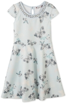 Speechless Butterfly-Print Skater Dress, Big Girls (7-16)