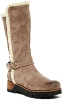 Manas Design Faux Shearling Trimmed Tall Boot
