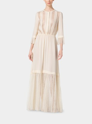 Michael Kors Chantilly Lace and Silk-Georgette Gown