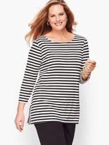 Talbots Knit Jersey Stripe Tunic