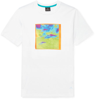 Paul Smith Printed Cotton-jersey T-shirt - White