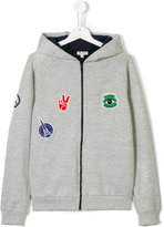 Kenzo teen patch hooded top