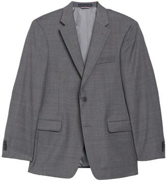 Tommy Hilfiger Grey/Blue Sharkskin Two Button Notch Lapel Regular Fit Jacket