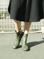 Fac Cz Ring Boots In Moss Green