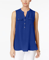 Charter Club Two-Pocket Blouse, Only at Macy's