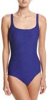 Gottex Essence Square-Neck One-Piece Swimsuit, Blue