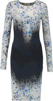 Preen by Thornton Bregazzi Ombré and floral print stretch-jersey dress