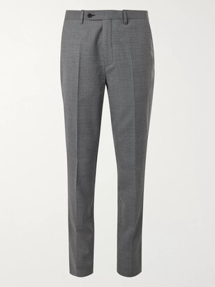 Mr P. Slim-Fit Houndstooth Wool Trousers