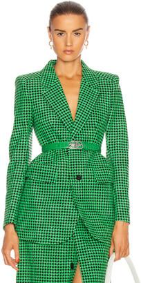 Balenciaga Hourglass Jacket in Apple Green & Black | FWRD