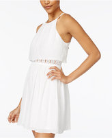 BCX Juniors' Popover Crochet Inset Dress