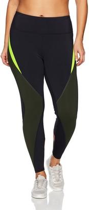 Shape Fx Women's Plus Size Shadow Color Block Legging