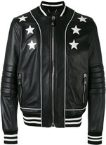 Philipp Plein star-detail jacket - men - Calf Leather - M