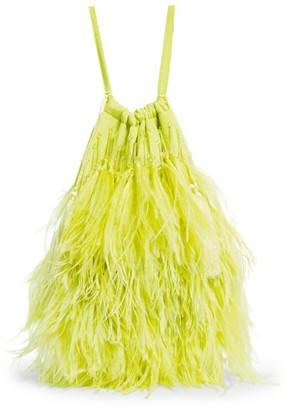 ATTICO The Ostrich Feather Greta Bag