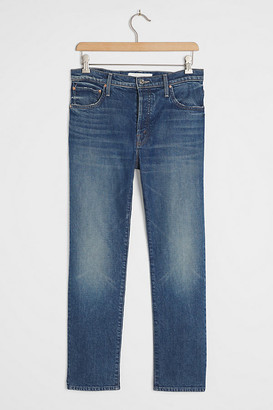 Mother The Scrapper Ultra High-Rise Straight Jeans By in Blue Size 25