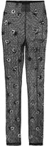 Moschino crystal embellished leggings - women - Cotton/Polyamide/PVC - 38