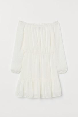 H&M Off-the-shoulder Dress - White