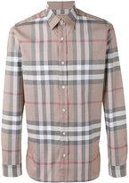 Burberry checked shirt - men - Cotton - XS
