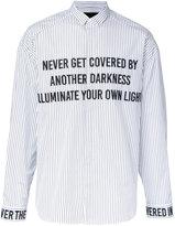 Juun.J embroidered stripe shirt - men - Cotton - 50