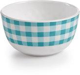 Certified International Frida Gingham Green Melamine Cereal Bowl