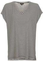 Topshop Stripe side split t-shirt