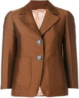No.21 crystal button blazer - women - Cotton/Polyester/Acetate/Viscose - 38