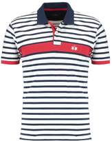 La Martina Striped Stretch Polo Shirt Optic White/navy