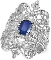 Effy Royal Bleu by Sapphire (1 ct. t.w.) and Diamond (3/4 ct. t.w.) Ring in 14k White Gold