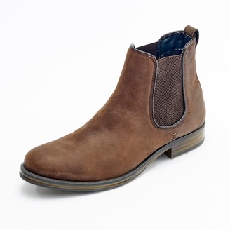 Curito Clothing Curito Bradwell Men's Oiled Leather Chelsea Boots - Brown