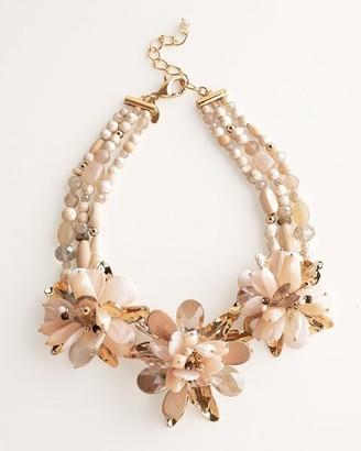 Chico's Flower Bib Necklace