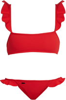 Fendi Rouches ruffle-trimmed bikini