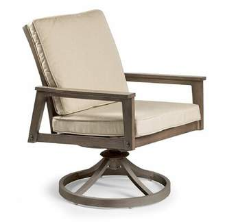 Eddie Bauer Horizon Swivel Patio Dining Chair with Cushion Cushion Color: Canvas Natural