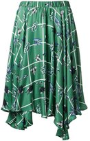 Julien David robot print skirt - women - Silk - S